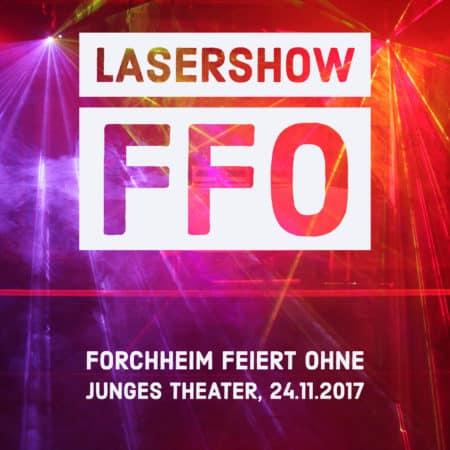DJ bei FFO mit Lasershow, Junges Theater Forchheim