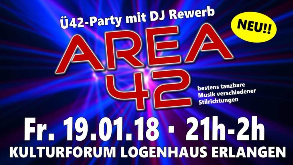 Area42 im Logenhaus Erlangen, Auftakt der Ü40-Party mit super Stimmung